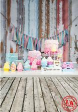 RAINBOW BIRTHDAY CAKE SMASH BUNTING BACKDROP VINYL PHOTO PROP 5X7FT 150X220CM