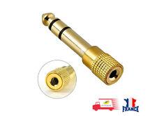 Prise Adaptateur Fiche JACK 6.5 mm vers 3.5 mm mâle femelle Audio Stéréo