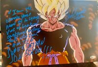 Sean Schemmel Signed 11x17 Dragon Ball Z Autograph Beckett COA