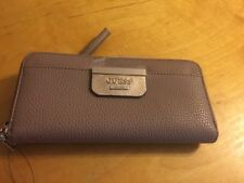 $50 Guess Wallet Latte Bobbi Wristlets Zip Around