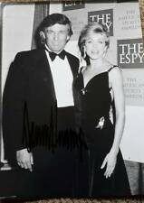 More details for president donald j trump hand signed 1993 wargacki photo with wife marla maples