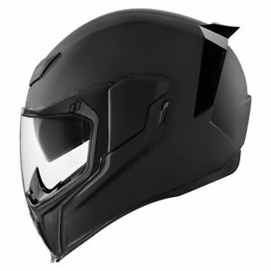 Icon Airflite Rubatone Motorcycle Helmet Black