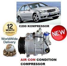 FOR MERCEDES C200 KOMPRESSOR W203 5/2000-2007 AC AIR CON CONDITIONING COMPRESSOR