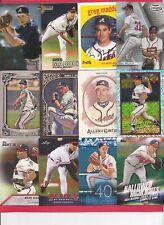 12 Different 2014 - 2018 Greg Maddux Lot, Atlanta Braves