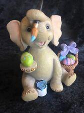 Lenox Figurine Lucky Little Easter Elephant Painting Egg Bunny Basket Spring Nib