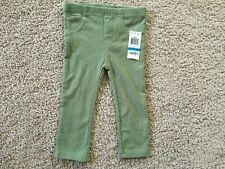 New First Impressions Baby Girls Solid Jeggings Pine Nut. Size 24 Months