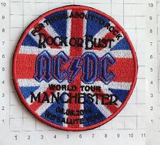 AC/DC Patch Manchester 2016 Aufnäher  hochwertig Gestickt Ungebraucht