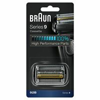 BRAUN 92B SERIES 9 ELECTRIC SHAVER REPLACEMENT FOIL CASSETTE CARTRIDGE - BLACK