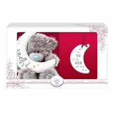 "Me to You Love you to the Moon & Back 5"" Bear & Plaque Gift Set - Tatty Teddy"