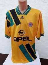 FC Bayern München Trikot adidas 1993-95 gelb XL Away Jersey Shirt Camiseta Opel