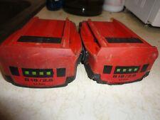 2 Hilti B 18/2.6 Ah Li-ion Batteries  Pack