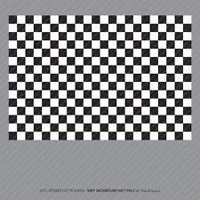 A4 Checkered Sheet Sticker Self Adhesive Vinyl Decal Dub Chequered Flag