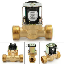 """3/4"""" NPSM 12V DC NBR Brass Electric Solenoid Valve Gas Water Air N/C 0.02-0.8Mpa"""