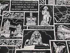 """Negro Y Blanco Monumentos De Londres """"Iconos Londres"""" Estampado 100%"""
