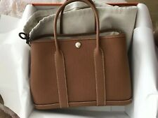 100%auth BNIB Hermes garden party 30 Gold Brown Colour Negonda calfskin