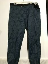 Vintage Navy Blue Quilted Thermal Pants. Men's XL