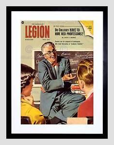 MAGAZINE COVER 1951 AMERICAN LEGION COMMUNIST PROFESSORS FRAMED PRINT B12X10742