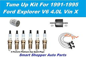 91-95 Ford Explorer V6 motorcraft spark plug, Wire Set Oil Fuel Filter Tune Up