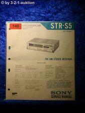 Sony Service Manual STR S5 Receiver (#0140)