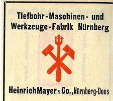 Heinrich Mayer & Co. Nürnberg-Doos TIEFBOHR-MASCHINEN Trademark 1912