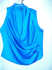 NWT BABY PHAT SZ 3X FAUX WRAP SLEEVELESS BLOUSE TOP PLUS SIZE