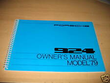 1979 PORSCHE 924 OWNERS MANUAL OWNER'S NEW NOS