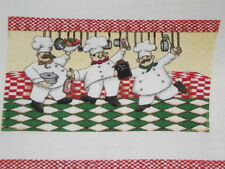 1 fabric panel, 6 sets of oven mitt tops,   WHIMISICAL CHEFS