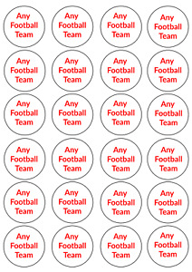 24 x Any Football Team Cupcake Toppers Wafer Icing Liverpool Manchester Everton