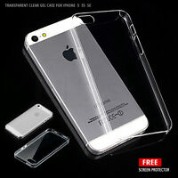 Transparent Crystal Clear Silicone Gel Case and Screen Protector For iPhone 5 5S