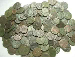 Lot of 5 original Ancient Roman coins/Constantius, Constantine, Licinius, Valens