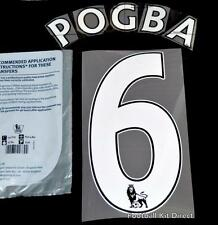 Manchester United Pogba 6 Premier League Football Shirt Name Set Sporting ID