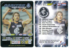 2005 AFL Teamcoach Captain TEAM COACH Card CARLTON Blues ANTHONY KOUTOUFIDES