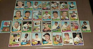 1965 Topps Baseball Card Lot of 30 Frank Thomas Dick Green - Very Sharp!