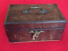 Antique 18th century Wood Mahogany Tea Caddy Georgian George III Box