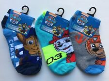 3 Pairs Socks Assorted Paw Patrol Boy Socks Size 6-8 Shoe Size 10.5-4 NEW