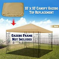 Easy to Install Gazebo Canopy Cover Replacement w/ Aluminum Holes (10 x 10')