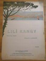 Spartito LILI' KANGY Musica S.Gambardella Edizioni Bideri anni 30/40