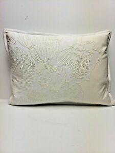 Ralph Lauren Linen Decorative Pillow  15  x 21 2 Tone Ivory