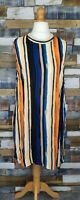 Marks and Spencer Ladies Multicoloured Sleeveless Long Top Size UK 22