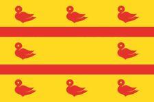 Fahne Flagge Cuijk (Niederlande) 20 x 30 cm Bootsflagge Premiumqualität