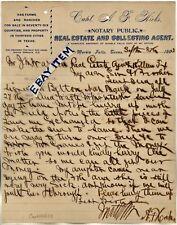 1903 LETTERHEAD Marble Falls Texas CAPTAIN A.F. HICKS Real Estate Farms Ranches