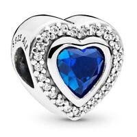 New PANDORA Sparkling Love Heart charm Silver 797608NANB RRP S925 ALE £60
