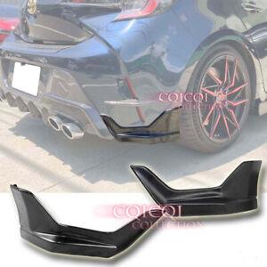Unpainted 2PCS T type rear side splitter for Toyota 19~ Corolla hatchback XSE ◎