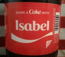 Share A Coke With Isabel 2018 Limited Edition Coca Cola Bottle