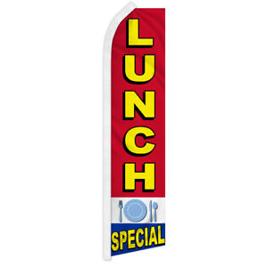Lunch Special Swooper Feather Flutter Advertising Flag Restaurant Diner Flag