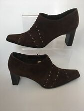 Tamaris Real Suede Brown Ankle Boots Chunky Heel 6 39