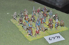 25mm medieval / pictish - pictish warriors 24 figs metal painted - inf (6771)