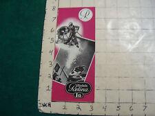 Vintage CLEAN brochure: kodak RETINA IA 1954 from Berlin cool