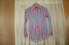 Etro Cotton Colorful Striped Button Down Shirt Size 14 years (check measurements