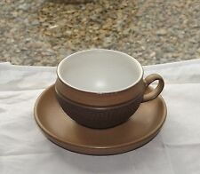 Denby Stoneware England Cotswold Pattern c1970s Cup and Saucer
